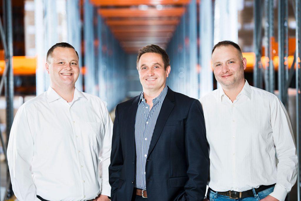 Ulmschneider Logistik & Spedition Marc Schäfer (operative Abwicklung), Patrick Wendler (Geschäftsführer), Klaus Berger (Speditionsleiter)