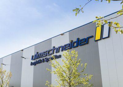 Ulmschneider Logistik & Spedition Gebäude Firmenschild