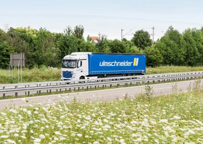 Ulmschneider Logistik & Spedition LKW Straße