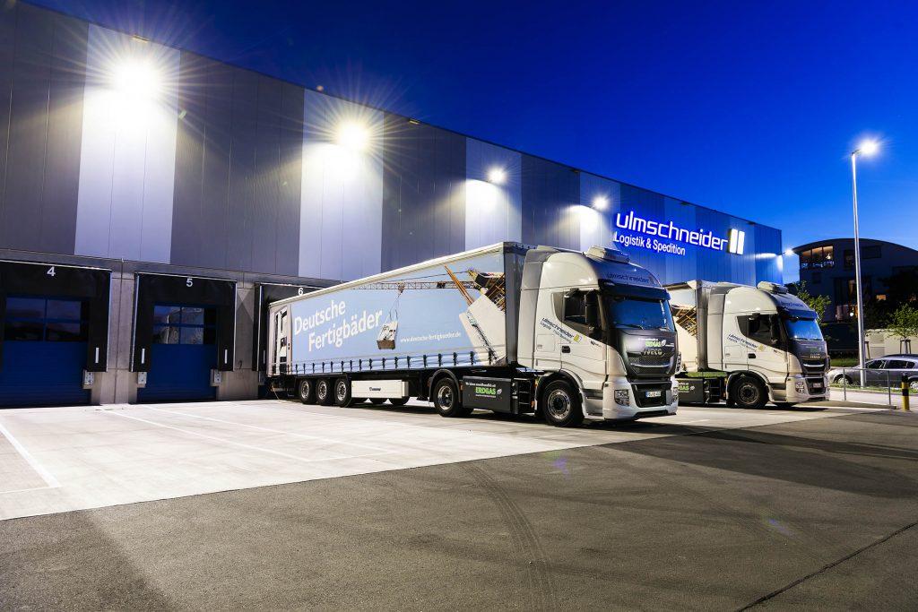 Ulmschneider Logistik & Spedition Gebäude Ulmschneider Logistik & Spedition Gas-LKW