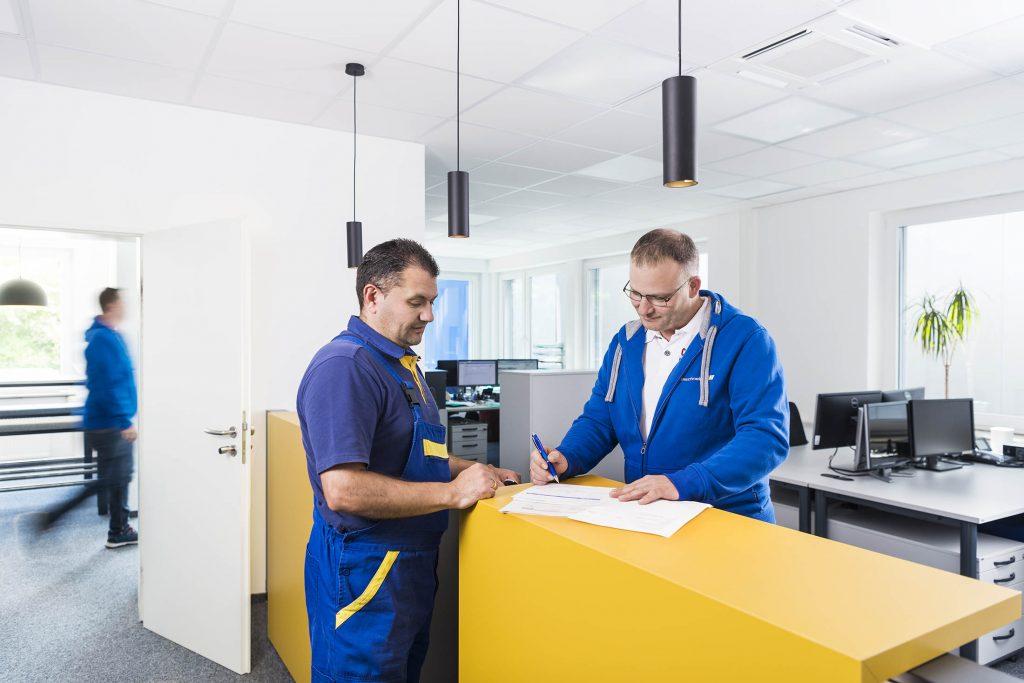 Ulmschneider Logistik & Spedition Büro Empfang